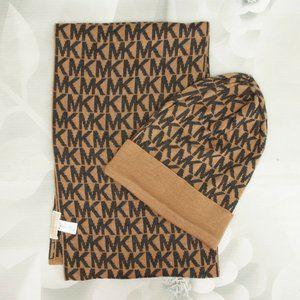 Michael Kors Designer Scarf W/Beanie Hat Set